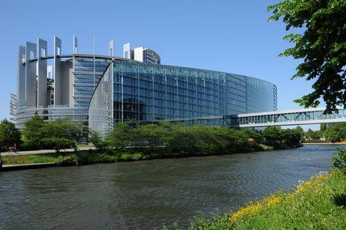 Parlamento Europeo uno de los rincones de Estrasburgo