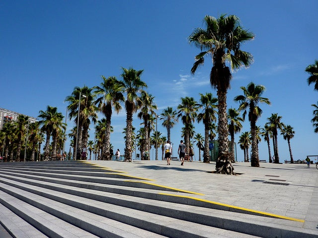 Paseo en la Barceloneta