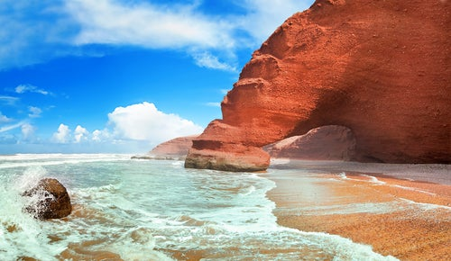 Playa Legzira en Marruecos