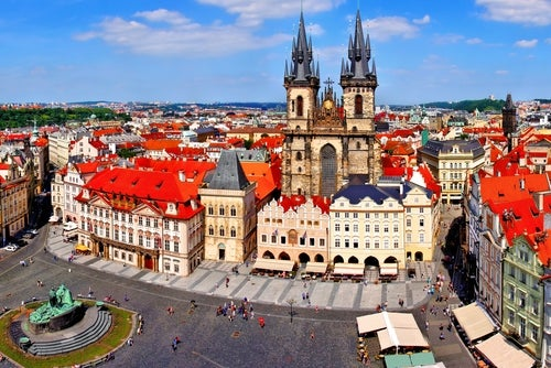 Plaza de la Ciudad Vieja, uno de los lugares que ver en Praga
