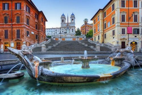 Fuente de la Barcaccia en Roma