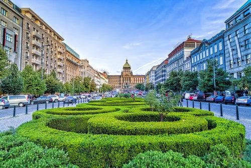 Plaza Wenceslao, uno de los lugares que ver en Praga