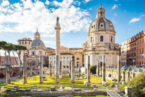 Foro de Trajano en Roma