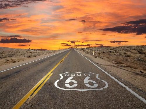 Señal de la Ruta 66