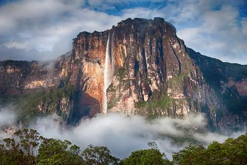 Salto del ángel en Venezuela en Sudamérica