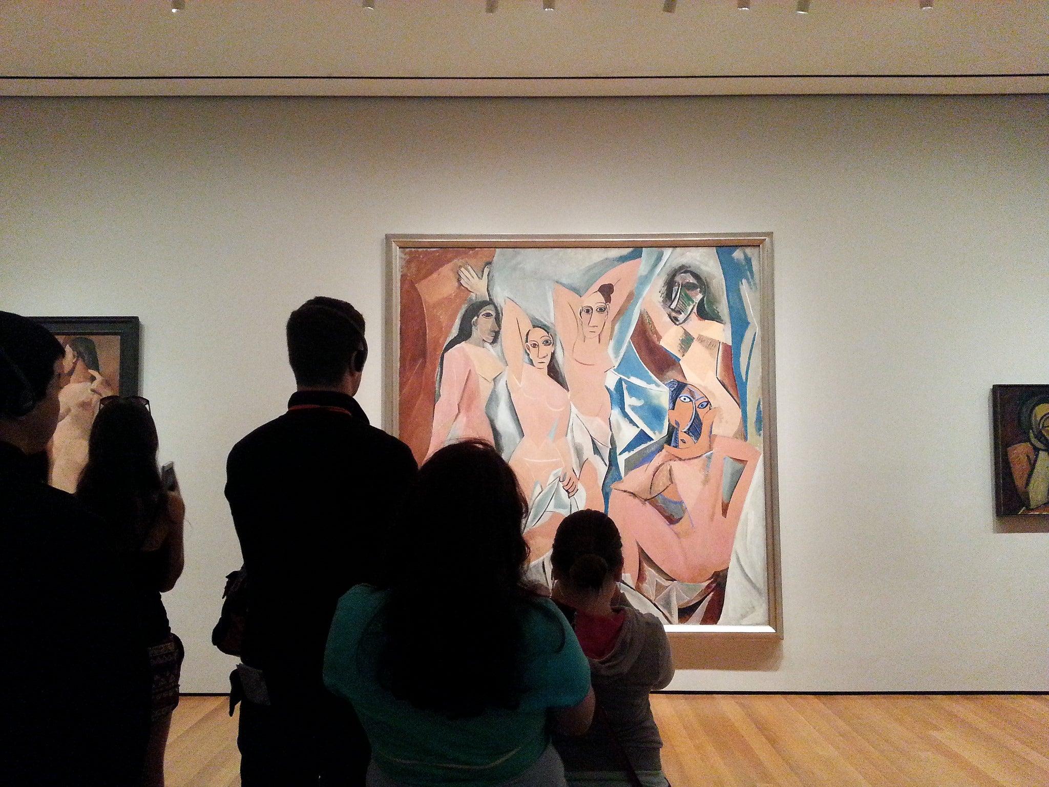 LAs señoritas de Avignon en el MoMA