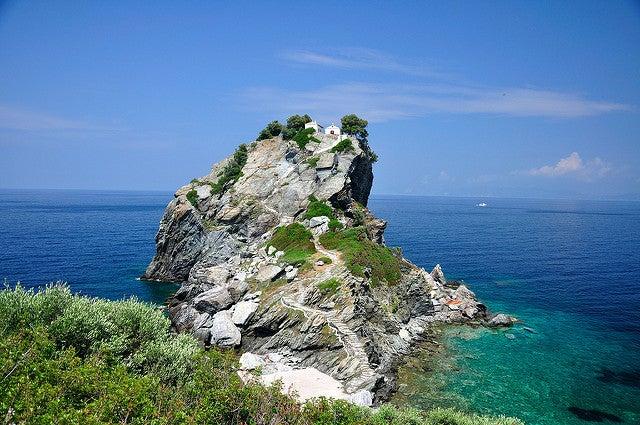 Skopelos, una de las fotografías de las islas griegas más conocidas