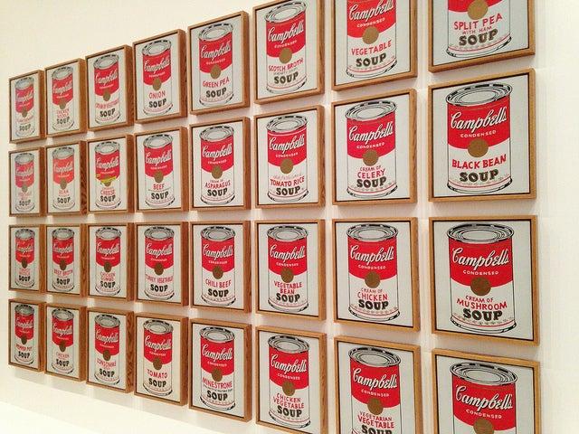 LAtas de Sopa Campbell de Andy Warhol en el MoMA