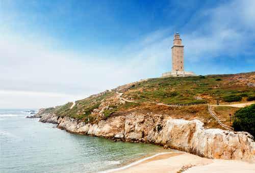 La Torre de Hércules y la Rosa de los Vientos en A Coruña