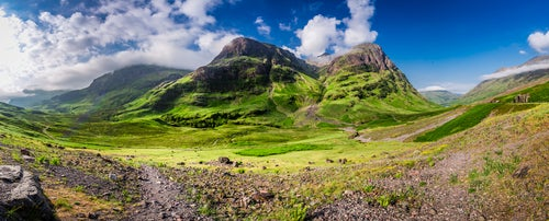 Valle de Glencoe en Escocia