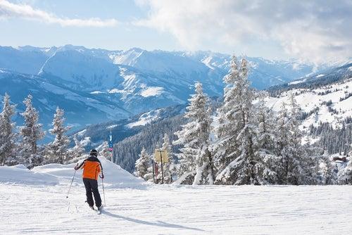 Esquiador en Zell am See
