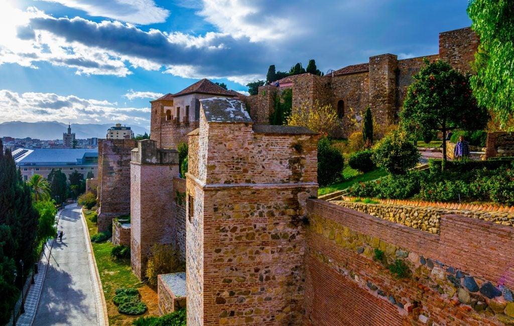 La alcazaba de Málaga, una antigua fortificación musulmana