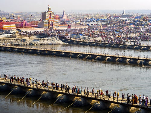 Allahabad en el río Ganges