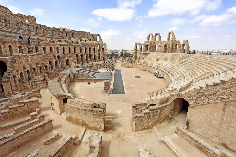 Anfiteatro romano de Djem en Túnez