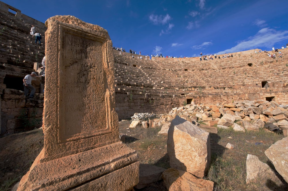 Anfiteatros romanos: Leptis Magna en Libia