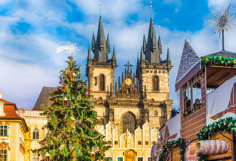 Árbol de Navidad en Praga, República Checa
