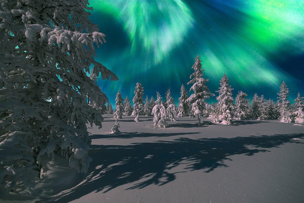 Auroras boreales en Suecia