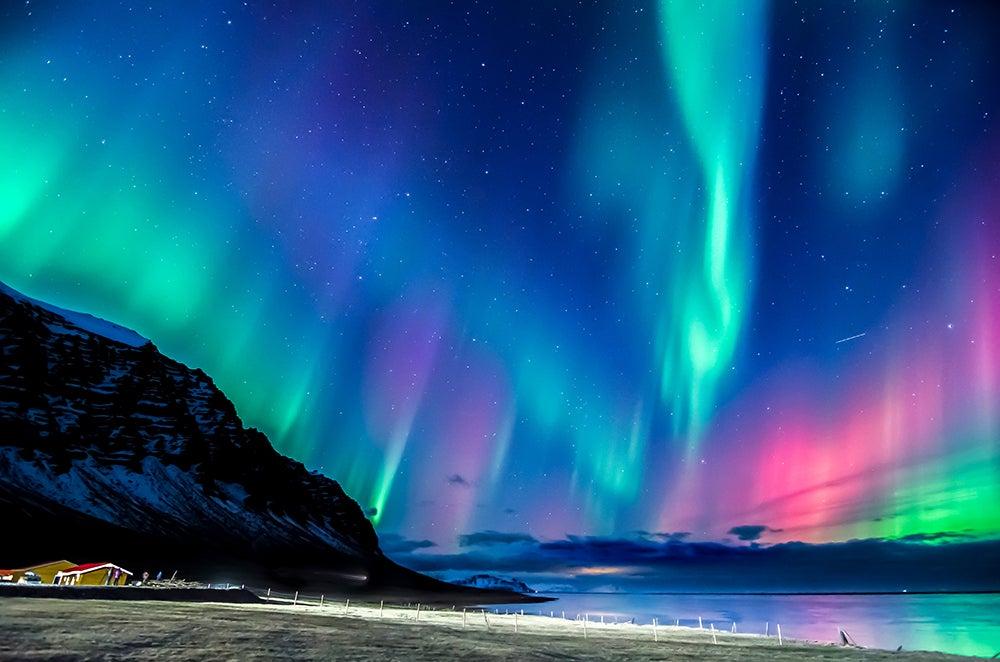 Auroras boreal en Groenlandia