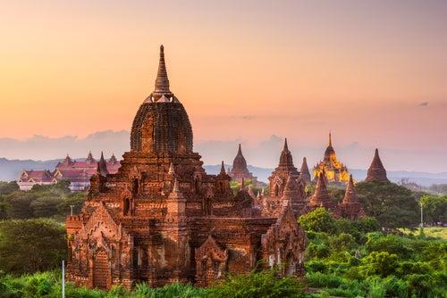 TEmplos de Bagán en Myanmar