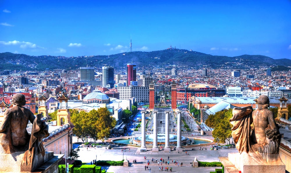 Barcelona, vista de la ciudad
