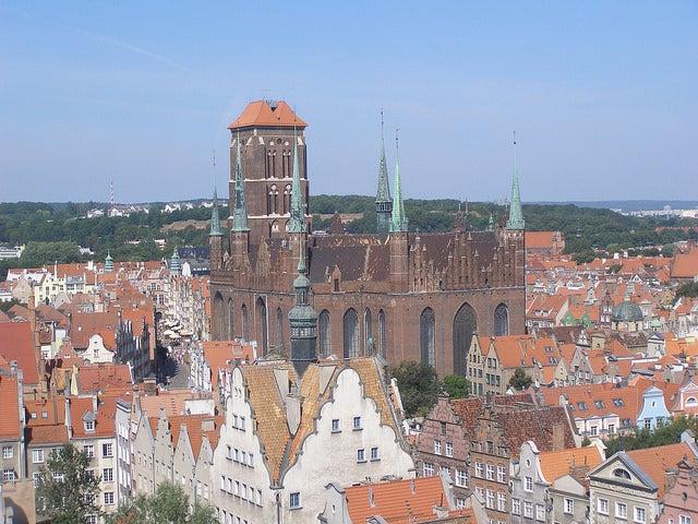 Basílica de Santa María, uno delos lugares que ver en Gdansk