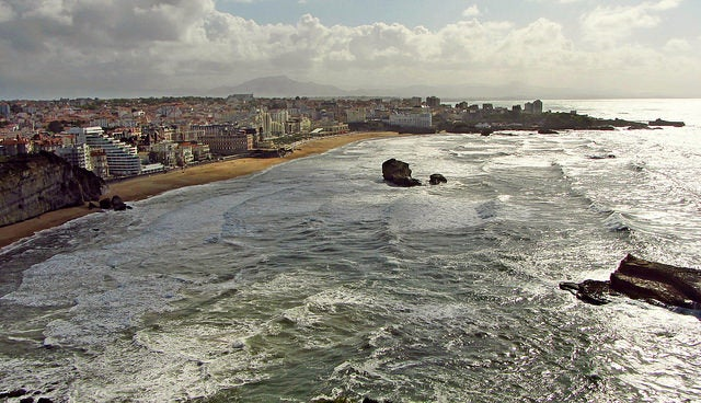 Biarritz: vista de la ciudad.