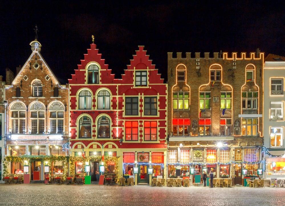 NAvidad en Bálgica, iluminación en Brujas
