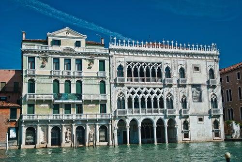 Ca d´Oro en el Gran Canal de Venecia