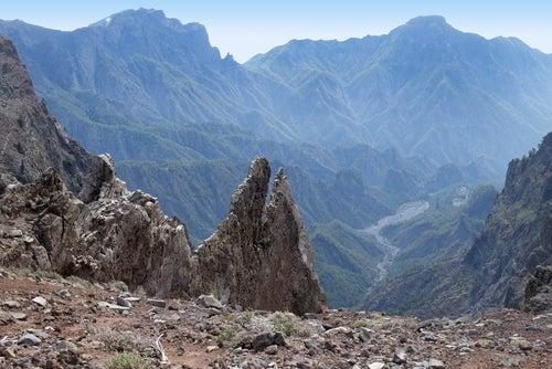 Caldera de Taburiente en la isla de La Palma