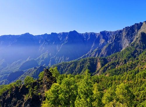 Caldera de Taburiente en La Palma, uno de los sitios más bonitos de España