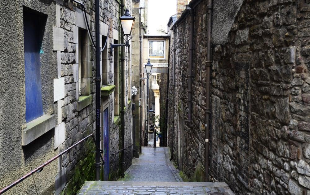 Callejón en Edimburgo
