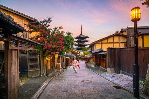 Viajar a Japón, calle de Kioto