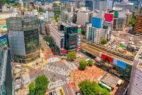 Calle de Tokio en Japón
