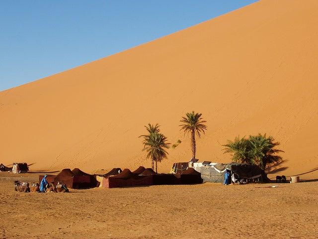 Campamento nómada en Merzouga