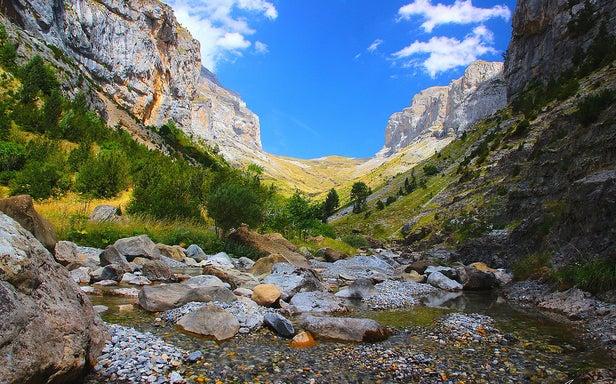 Cañón de Añisclo en Los Pirineos