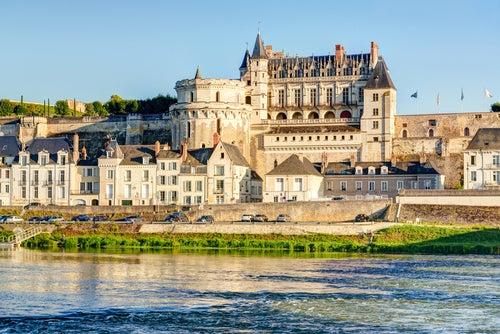 Castillo de Amboise en el valle del río Loira
