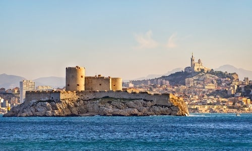 Castillo de If en Marsella, uno de los escenarios literarios más famosos