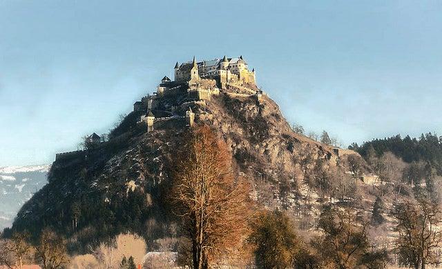 Castillo de Hochosterwitz en Austria