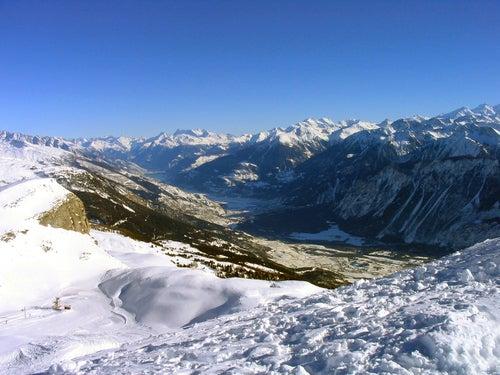 Vista desde la cima de Crans
