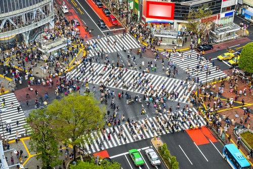 Cruce deShibuya, uno de los lugares de Tokio más concurridos