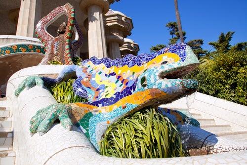 Dragón del parque Güell de Barcelona