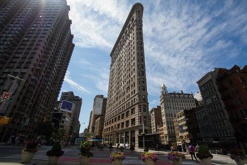 Edificio Flatirón, primer rascacielos de Nueva York
