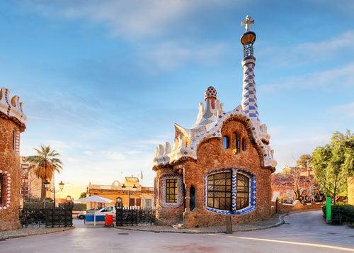 Acceso al parque Güell de Barcelona
