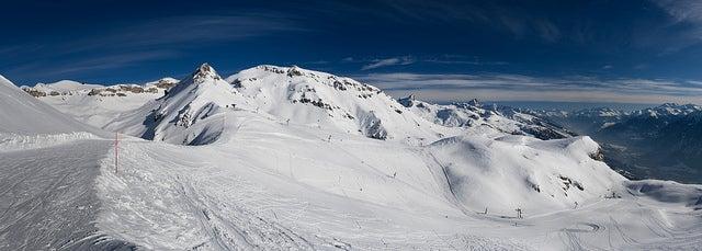 Estaciónd eesquí de Cras montana en Suiza