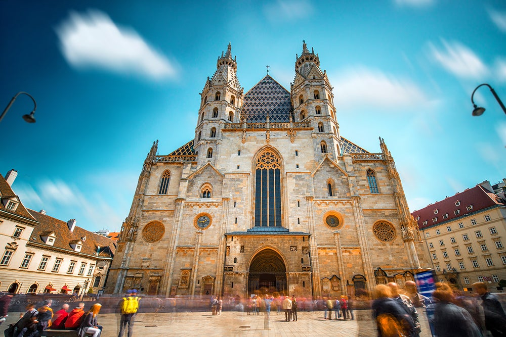 Fachada principal de la catedral de Viena