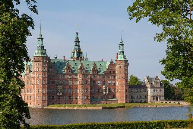 Castillo de Frederiksborg en Dinamarca