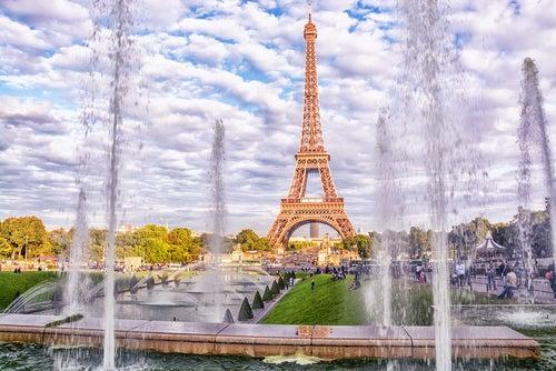 Fuentes de los JArdines del Trocadero en París