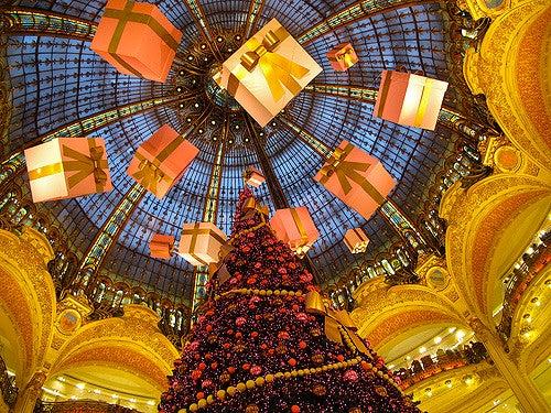 París en Navidad: Galerías Lafayette
