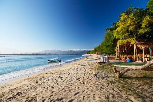 Playa en Gili Trawangan de islas Gili