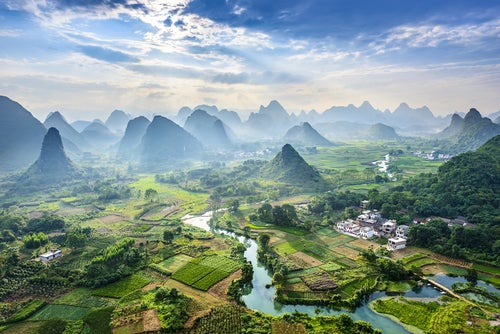 Guilin,uno de los paisajes de China más bonitos